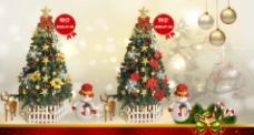 圣诞树促销海报图片