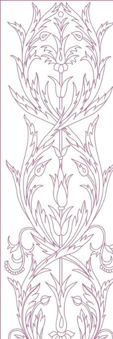 线条花朵图片_花边花纹