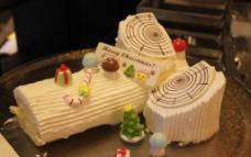 圣诞木桩蛋糕图片
