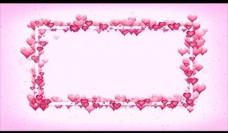 爱心相框背景视频素材图片