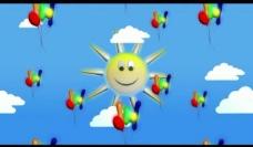 卡通气球背景视频素材图片