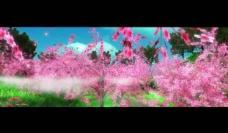 春色桃园舞台背景视频图片