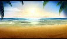 海滩风景背景视频素材图片