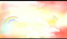 云雾彩虹背景视频素材图片
