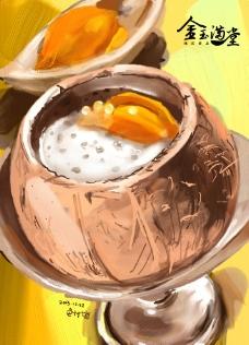 椰子粥图片