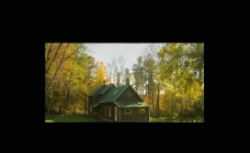 秋色森林小屋视频素材