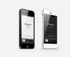 黑白苹果手机图片