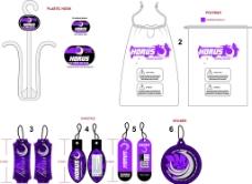 紫色吊牌图片