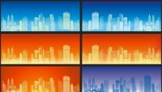 矢量高楼大厦科技背景图片