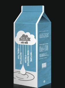 盒装牛奶包装设计图片