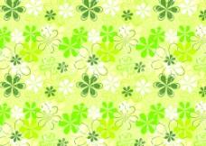 绿色系列六瓣花图案图片