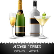 香槟酒水图片