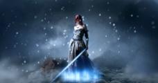 科幻女战士图片