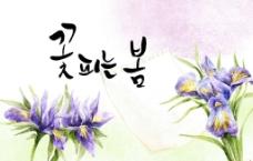 紫色兰花背景