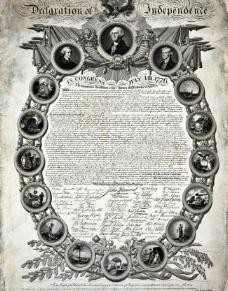 美国独立宣言图片