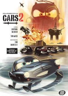 汽车总动员2形象海报设计图片