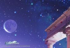 蓝色背景 夜景图片