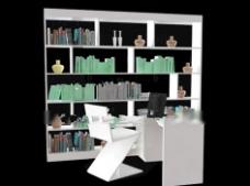 书房大气设计3d模型