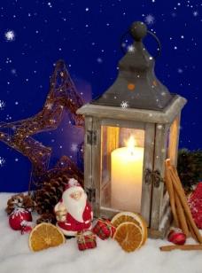 雪花圣诞彩灯图片