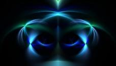 蓝色光影图片