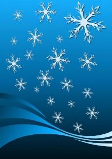 雪花图案背景图片