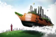 诺亚方舟创意海报PSD素材