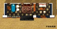 中式家具展厅平面效果图