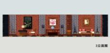 中式家具展厅B立面图