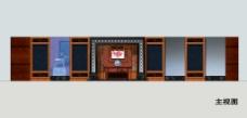 中式家具展厅主视图