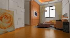 简约现代风格客厅效果图图片