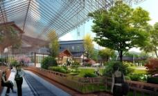 餐饮中心外观设计效果图片