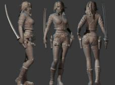 三维女角色模型图片