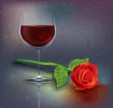 葡萄酒玫瑰图片