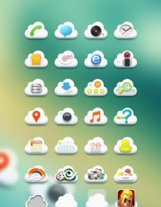 云朵手机图标图片