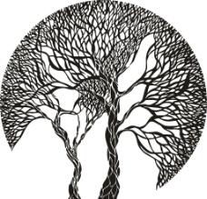 抽象树图片