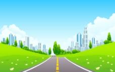 绿色城市图片