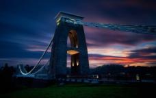 桥 夜景图片