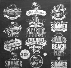 夏日旅游标签图片