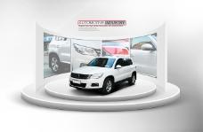 汽车产品展台与背景墙PSD分层素材