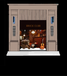 酒吧橱窗设计