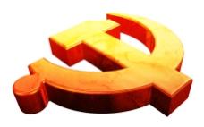 立体质感党徽PSD分层素材
