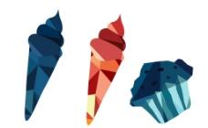 折纸冰淇淋图片