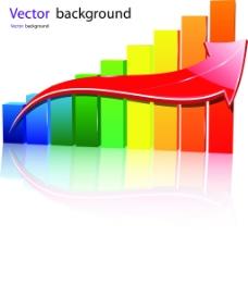 彩色3D立体柱状图3