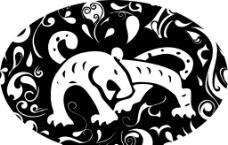 虎豹矢量图图片