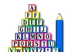 教具 字母方块 铅笔图片
