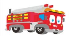 消防车模型卡通图片