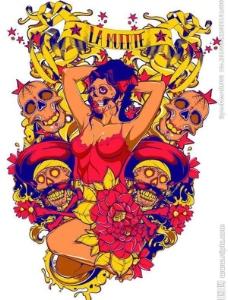 纹身图案t恤花纹图片
