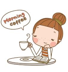 喝咖啡图片