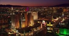 城市夜景航拍高清实拍