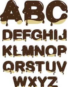 巧克力字母设计图片
